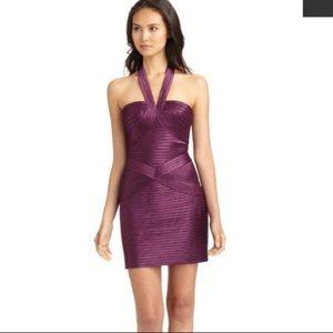 🎆NYE🎆 BCBGMaxAzria Bodycon Satin Bandage Dress